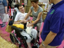 Pet Therapy works with the disabled